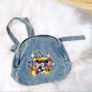 Vintage Disney Fab Five Mini Denim Backpack
